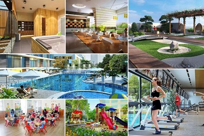 tiện ích nội khu dự án hado charm villas nam an khánh