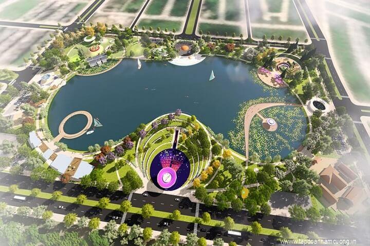 Công viên hồ điều hòa tại khu đô thị Dương Nội