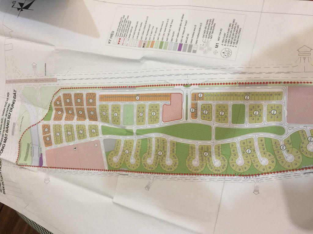 Mặt bằng chia lô dự án Hà Đô Charm Villas