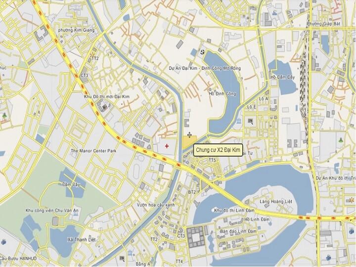 vi-tri-chung-cu-x2-dai-kim-tu-google-maps