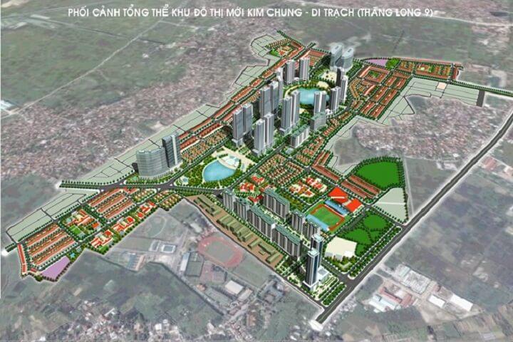 Phối cảnh khu đô thị Kim Chung Di Trạch