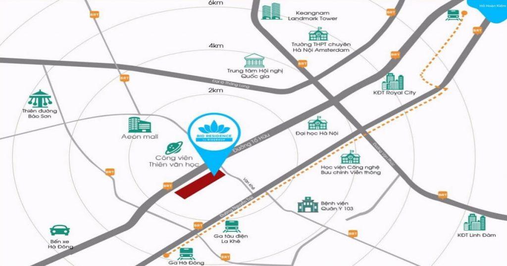 Vị trí quy hoạch dự án Bid Residence