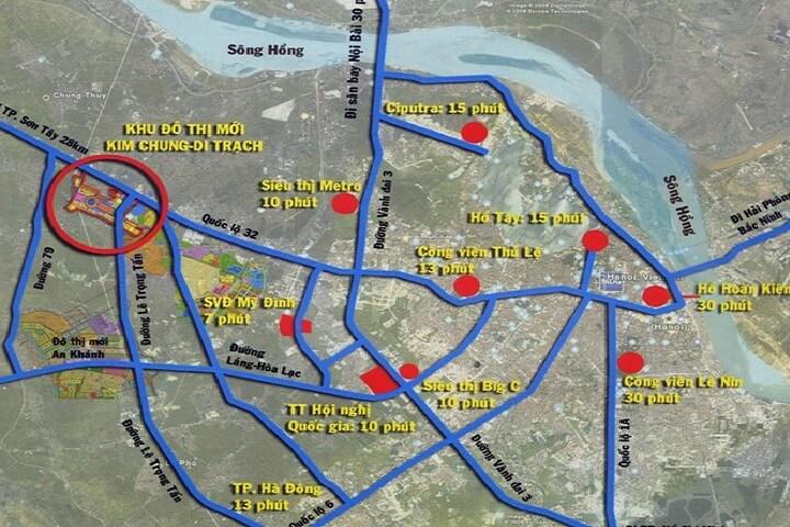 Vị trí quy hoạch khu đô thị Kim Chung Di Trạch Hoài Đức