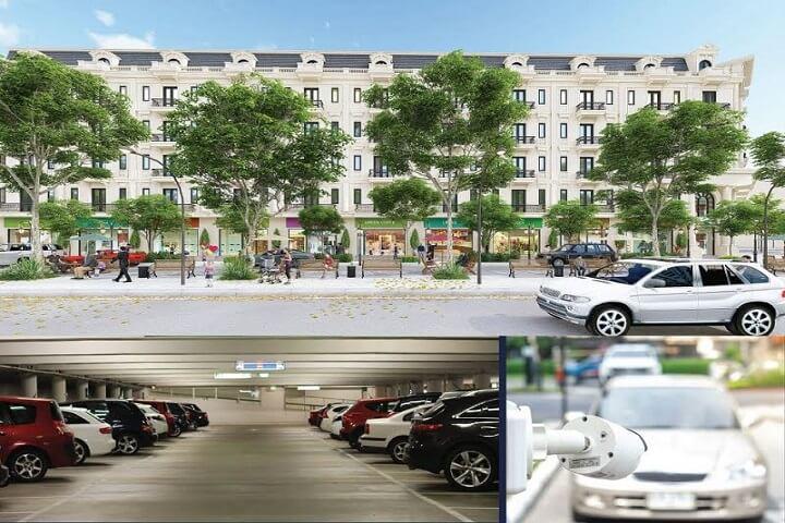 Bãi đỗ xe hiện đại tại Kiến Hưng Luxury Hà Đông