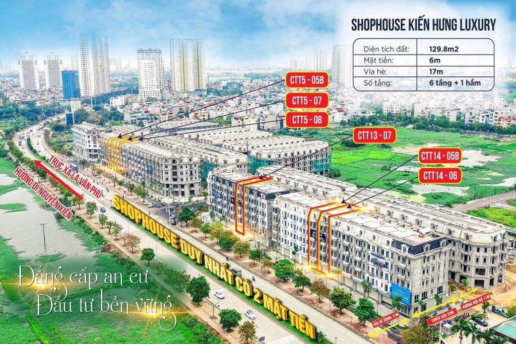 Dự án Kiến Hưng Luxury Hà Đông là tổ hợp gồm thấp tầng và cao tầng