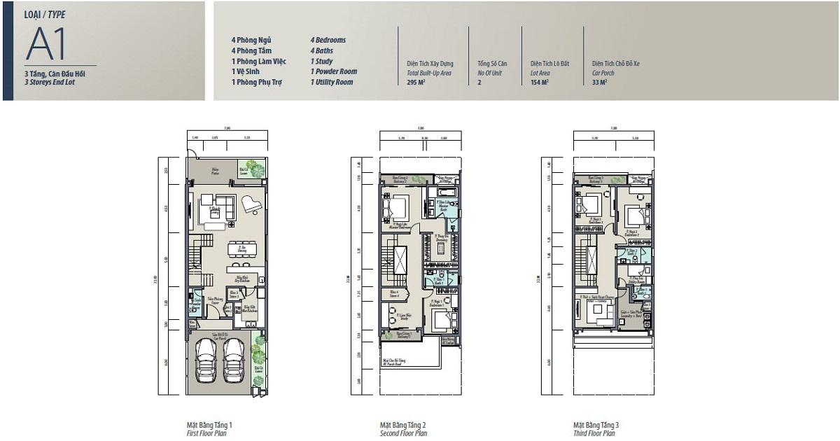 Mẫu thiết kế A1 Liền kề Mansions Parkcity