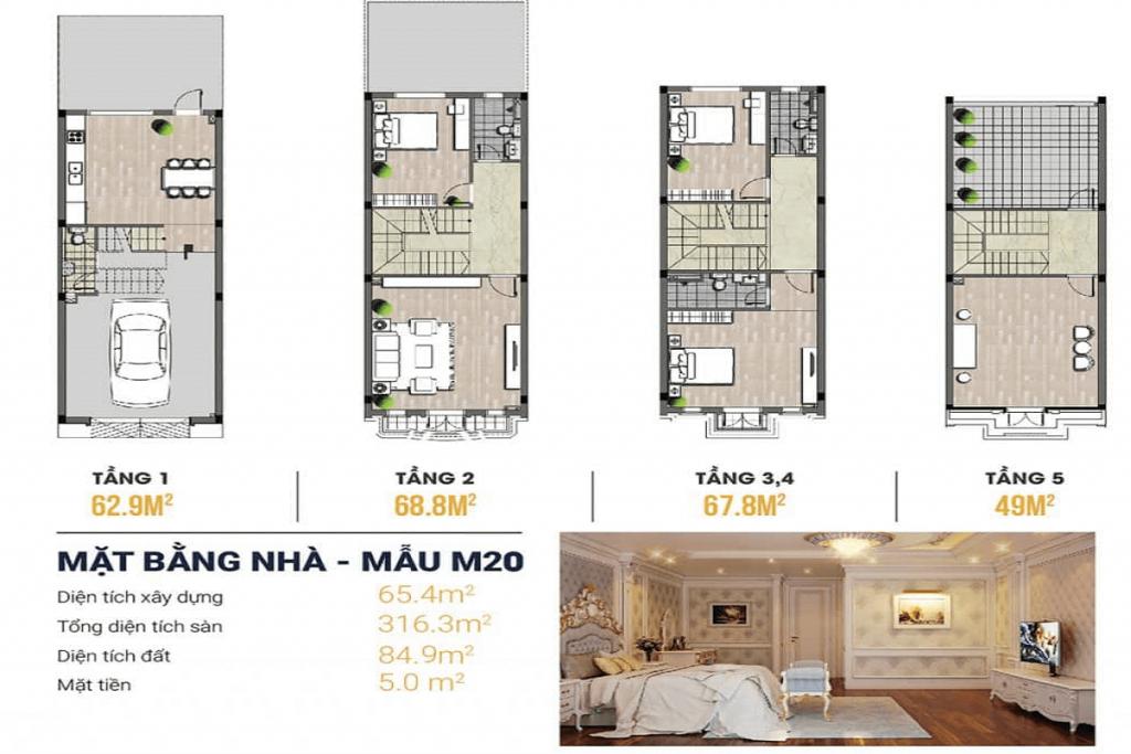 Thiết kế nhà ở Liền kề Kiến Hưng Luxury