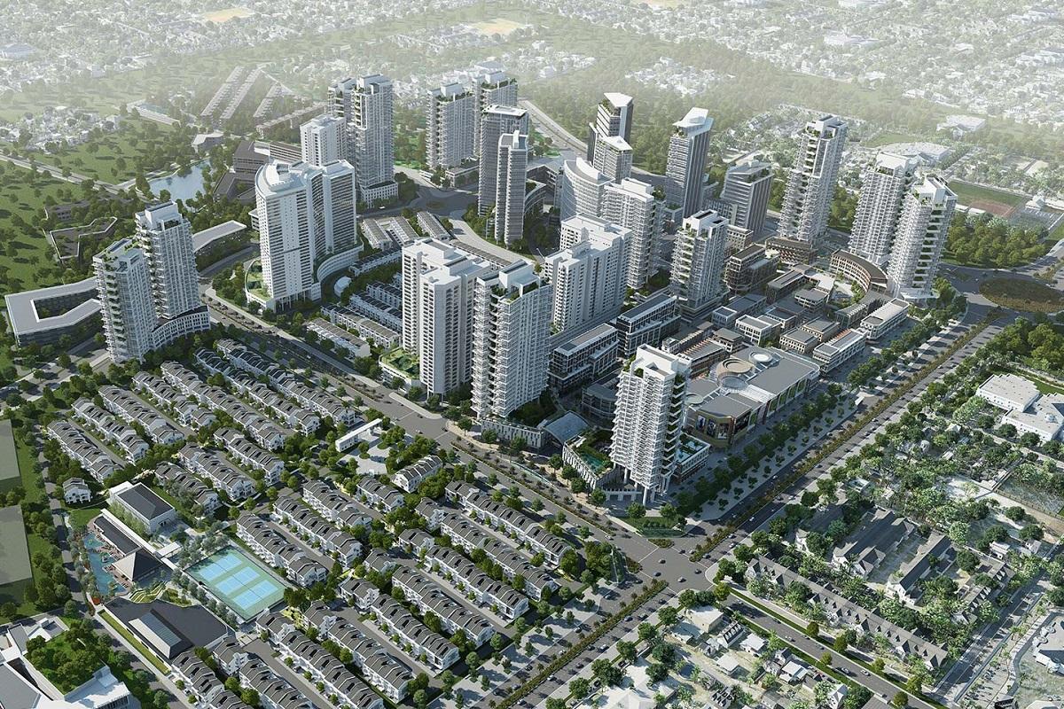 Phối cảnh khu đô thị Park City Hà Đông