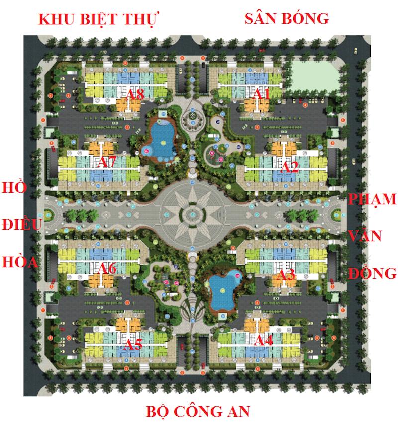 Mặt bằng tổng thể quy hoạch chung cư An Bình City