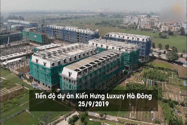 Tiến độ xây dựng dự án Kiến Hưng Luxury 2019