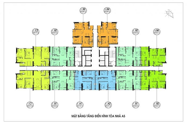 Mặt bằng tòa A5 dự án An Bình City Phạm Văn Đồng