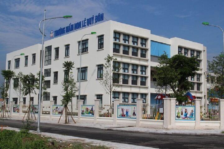 Trường mầm non Lê Quý Đôn nằm trong quần thể khu đô thị DƯơng Nội