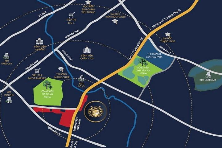 Vị trí quy hoạch dự an Kiến Hưng Luxyry