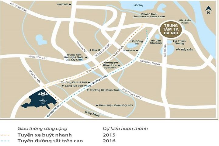 Vị trí quy hoạch dự án Park City Hà Đông