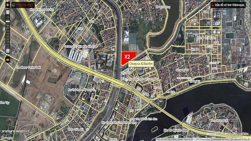 vị trí quy hoạch dự án nhà ở xã hội X2 Đại Kim
