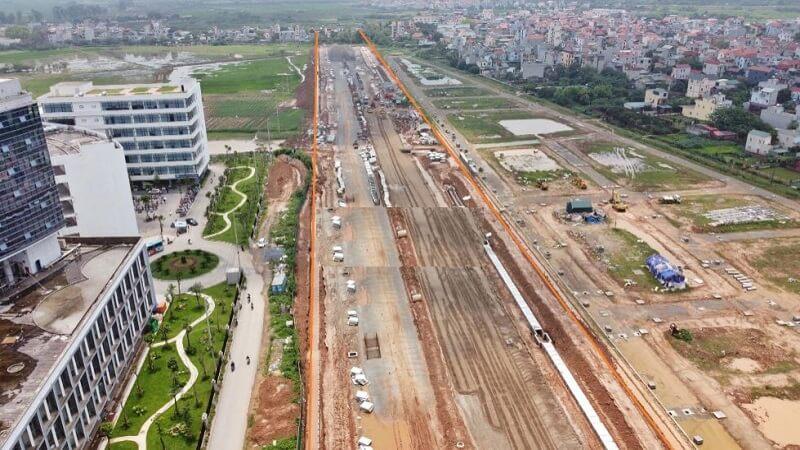 Cập nhật tiến độ đường nối đại lộ Thăng Long và tỉnh lộ 423