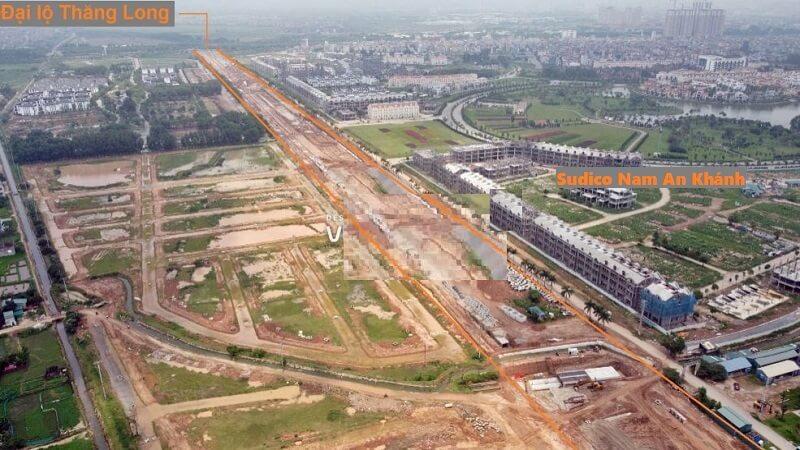 Cập nhật tiến độ tuyến đường Liên khu 8 Hoài Đức kết nối đại lộ Thăng Long và đường 423