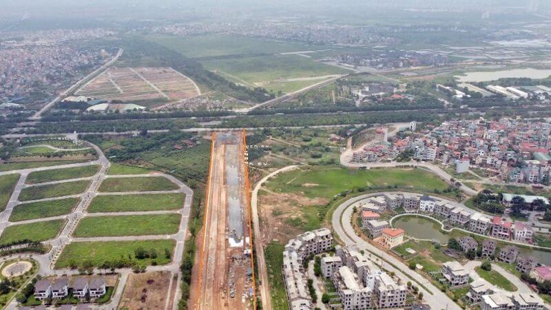 Đường Liên khu 8 đoạn kết nối với đại lộ Thăng Long